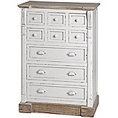 New England Storage Chest with Nine Drawers