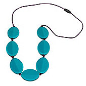 Jellystone Teething Necklace in Turquoise Baja Green