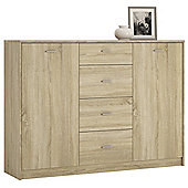 Kensington 2 Door 4 Drawer Sideboard Sonama Oak