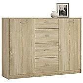 Kensington 2 Door 4 Drawer Sideboard Sonama Oak