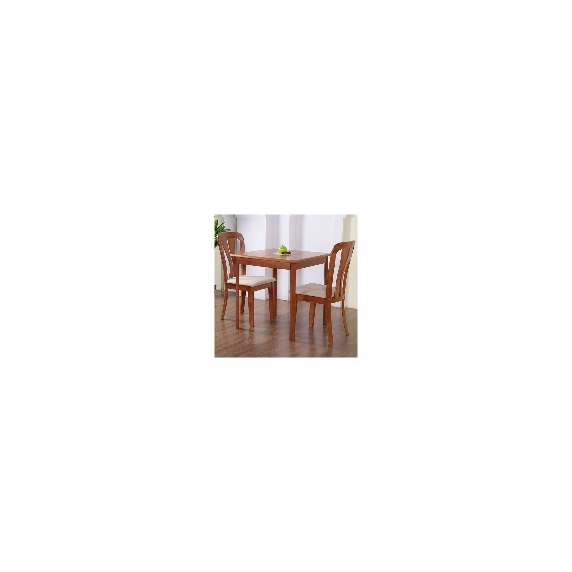 G&P Furniture Windsor House 3-Piece Derby Square Dining Set with Slatted Back Chair - Cherry at Tesco Direct