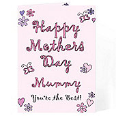 Personalised Flowers & Butterflies Mother's Day Card