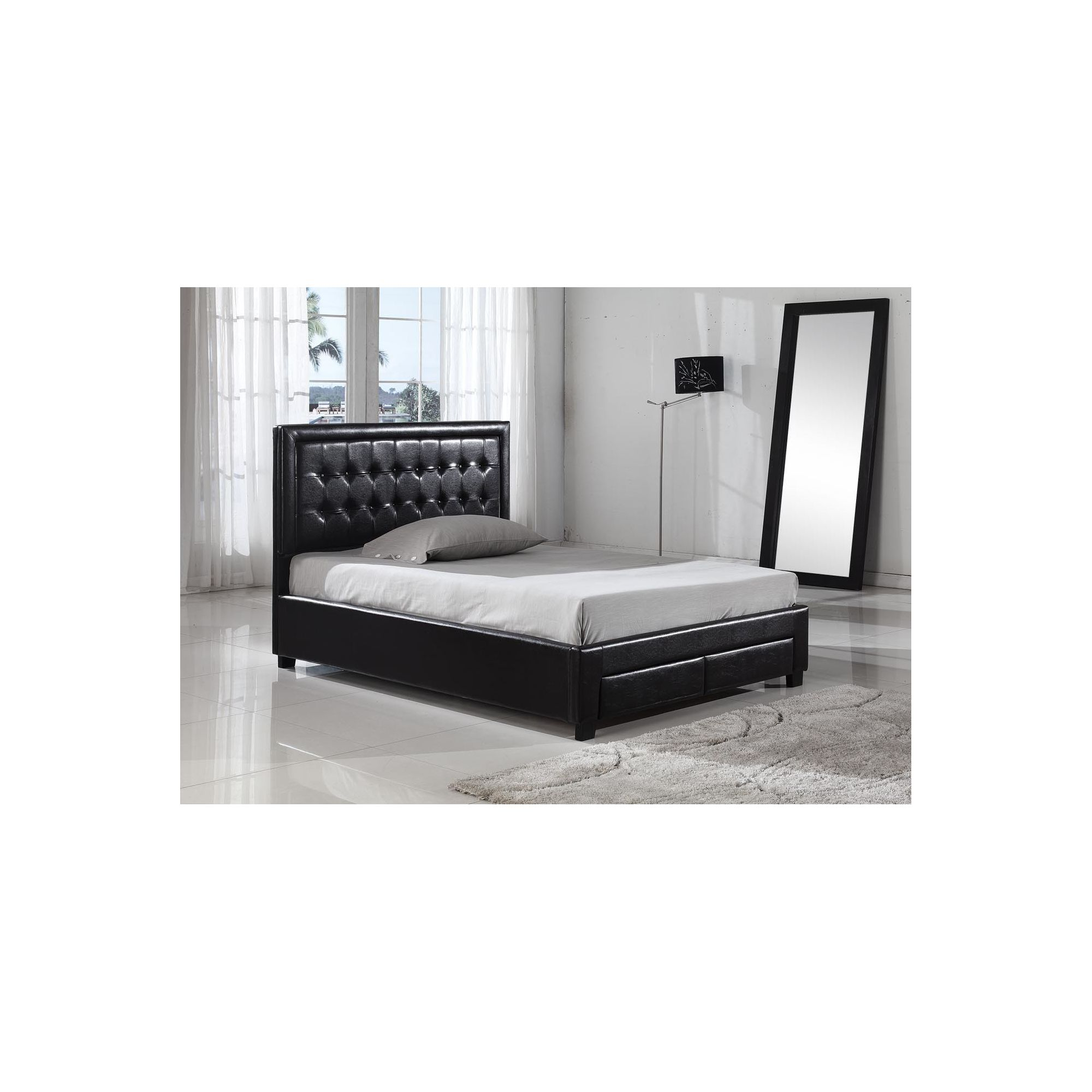Interiors 2 suit Verona Bedframe - Double - Black at Tesco Direct