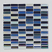 Bright & Beautiful Reactive Blue Mosaic 300x300mm