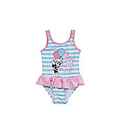 Disney Minnie Mouse Striped and Polka Dot Swimsuit - Multi