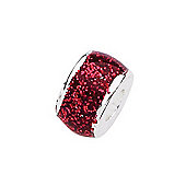 Amore & Baci Junior Red Glitter Candy Narrow Bead