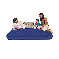 Bestway Blue Flocked Double Air Bed