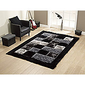 Oriental Carpets & Rugs Noble House Black Tufted Rug - 170cm L x 120cm W