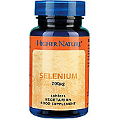 Higher Nature Selenium 200Ug 60 Veg Tablets
