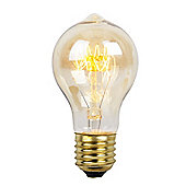 Squirrel Cage GLS Amber Bulb with Nipple End ES Cap 40w