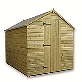 7ft x 6ft Windowless Pressure Treated T&G Apex Shed + Single Door