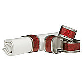 Premier Housewares 3cm Nickel Plated Napkin Rings (Set of 4) - Red