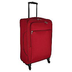 Tesco Lightweight 4-Wheel Large Red Suitcase