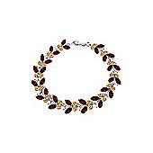 QP Jewellers 7in Citrine & Garnet Butterfly Bracelet in 14K White Gold