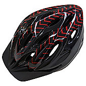 Fusion, Adult Bike Helmet, Red & Black, 54 - 58 cm