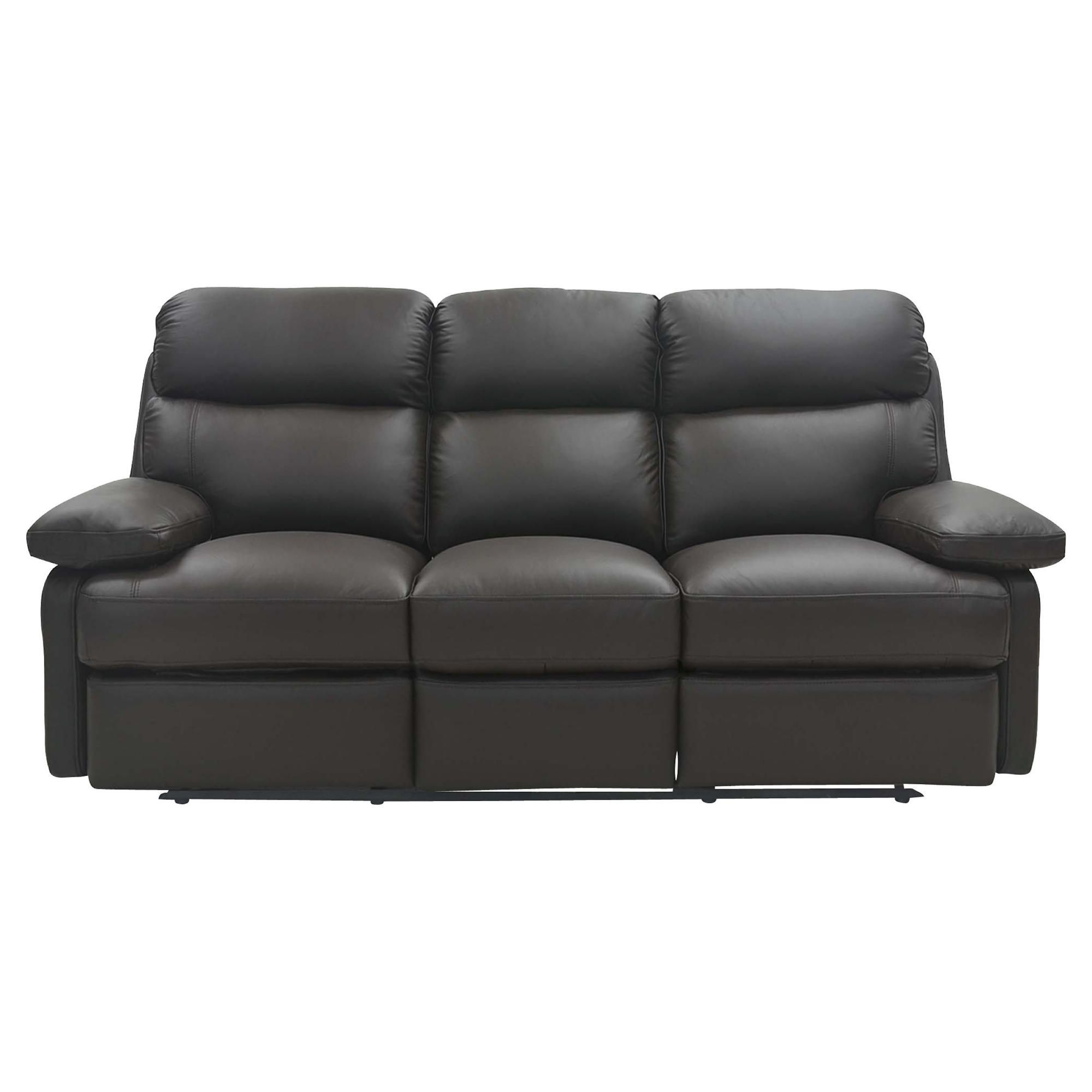 Cordova Leather Large Recliner Sofa Chocolate at Tesco Direct