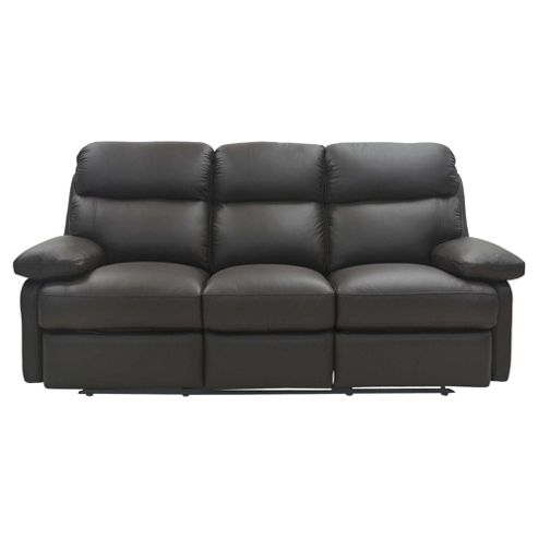 Cordova Leather Large Recliner Sofa Chocolate