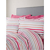 Pied A Terre Coco Stripe Oxford Pillowcase In Grey