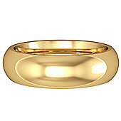 Jewelco London 18ct Yellow Gold - 6mm Premium Court-Shaped Band Commitment / Wedding Ring -