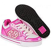 Heelys Motion Boys/Girls Roller Skating Shoe Trainer Choose Colours JNR 12-UK7 - Pink