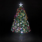 90cm/3ft Fibre Optic Saturn Christmas Tree with Ice White LEDs