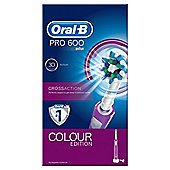 Oral-B Power PRO CrossAction 600 Purple Toothbrush.