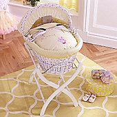 Izziwotnot Humphreys Lottie Fairy White Wicker Moses Basket (Princess Primrose)
