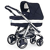 Bebecar Ip-Op Evolution Classic Chrome Combi Pram (Oxford Blue)