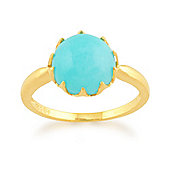 Gemondo Amazonite 'Calo' Pastel Ring in 9ct Yellow Gold Plated Sterling Silver