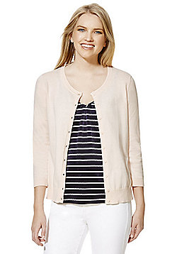 F&F Crew Neck Cardigan with As New Technology - Pink