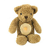 Cloud B Glow Cuddles Night Light with vibrating heartbeat - Toffee Bear