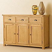 Roseland Oak Large Sideboard - Waxed Oak