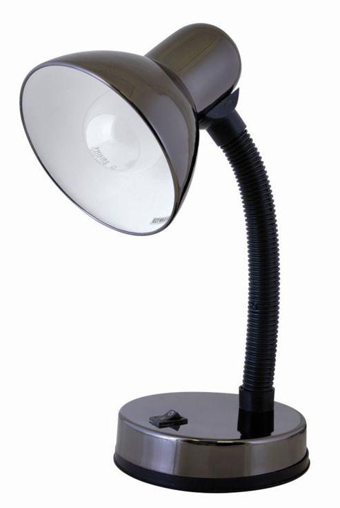 Home Essence Flexi 40W Desk Lamp in Black Chrome
