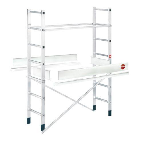 Hailo 500cm ProfiStep multi aluminium Mobile Ladder Scaffold