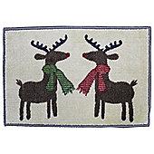 Christmas Reindeer Indoor Mat L60xW40cm