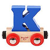 Bigjigs Rail Rail Name Letter K (Dark Blue)