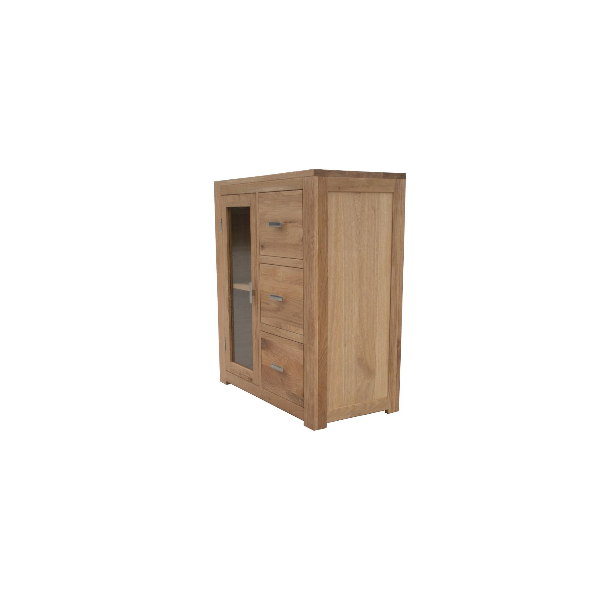 Seahorse Furniture Churchill Oak 2010 Three Drawer Entertainment Unit in Natural Oak at Tesco Direct