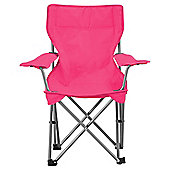Tesco Kids' Folding Camping Chair, Pink