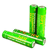 Nickel Zinc AAA Rechargeable Batteries 4 Pack