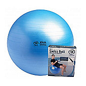 Pilates-MAD Anti Burst 300kg Gym Ball, Pump & DVD Blue 65cm