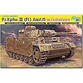 Dragon 6776 Pz.Kpfw.Iii (Fl) Ausf.M W/Schurzen 1:35 Smart Model Kit