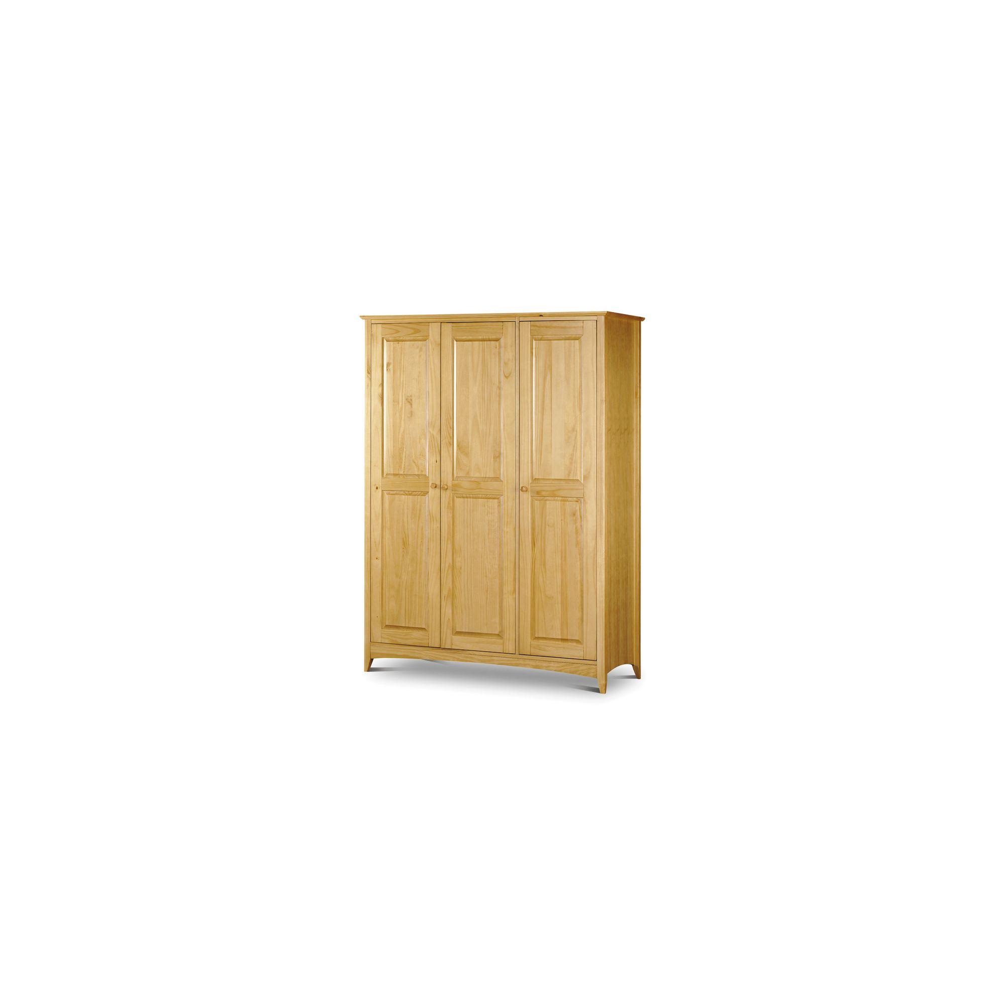 Julian Bowen Kendal 3 Door Wardrobe in Solid Pine at Tesco Direct