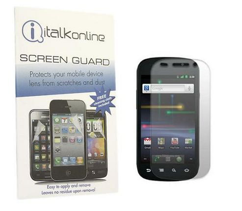 S-Protect LCD Protector & Micro Fibre Cleaning Cloth - Samsung Google Nexus S I9020