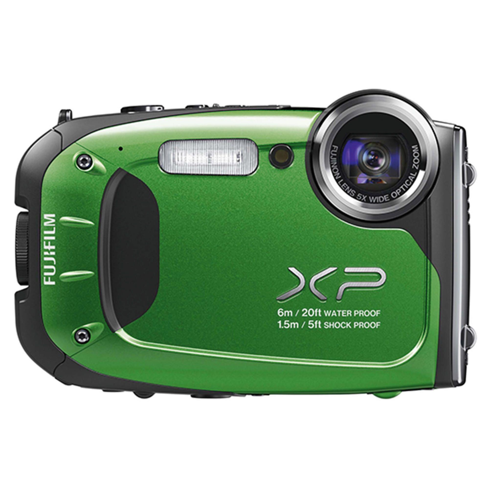 Fujifilm XP60 Tough Digital Camera, Green, 16MP, 5x Optical Zoom, 2.7 inch LCD Screen