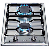 CDA HCG301SS Domino Two Burner Gas Hob with FSD in Stainless steel