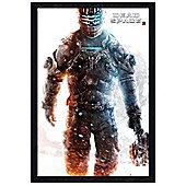 Dead Space 3 Black Wooden Framed Isaac Clarke Poster