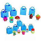Shopkins Series 1 (Blue) Value Pack 10 Characters & 10 Shopping Bags (No duplicates)