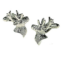 Stags Head Novelty Themed Cufflinks