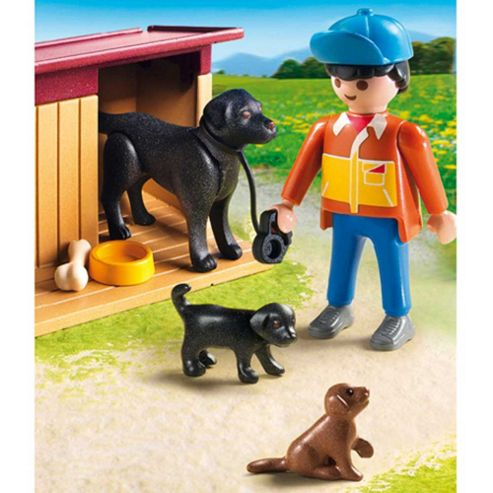 Playmobil Farmer's Dog with Puppies