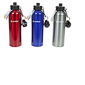750ml Water Bottle with 2 Lids Silver - Summit